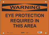 Master Lock S26150  Warning Eye Protection Required In This Area Warning Sign
