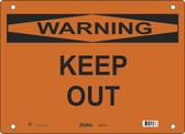 Master Lock S27100  Warning Keep Out Warning Sign