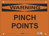 Master Lock S27950  Warning Pinch Points Warning Sign