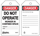 Master Lock S4057 Do Not Operate Workers in Confined Space Tag