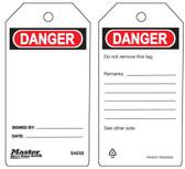 Master Lock S4058 Danger blank Tag