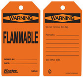 Master Lock S4048 Flammable Warning Tag