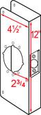 """Don-jo Wrap 486 CW Around 4-1/2"""" x 12"""" w/2-3/4"""" Backset"""
