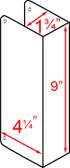 """Don-jo 40 CW Blank Wrap Around 4-1/4"""" x 9"""""""