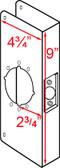 """Don-jo 4 2 CWWrap Around 4-3/4"""" x 9"""" w/ 2-3/4"""" Backset"""