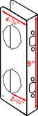 """Don-jo 481 VF Wrap Around 4-1/4"""" x 9"""" w/ 2-3/4"""" Backset"""