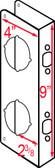 """Don-jo 942 VF Wrap Around 4"""" x 9"""" w/ 2-3/8"""" Backset"""