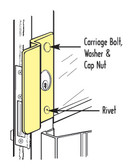 Latch Protector for Center Hung Doors OLP 2651