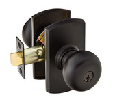 Emtek Key in Winchester Knob Entrance Lockset