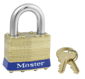 Master Lock No.2 - 1-3/4in (44mm) Wide Laminated Brass Pin Tumbler Padlock