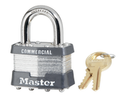 Master Lock No. 21 - 1-3/4in (44mm) Wide Laminated Steel Rekeyable Pin Tumbler Padlock