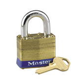 Master Lock No. 24 - 1-3/4in (44mm) Wide Laminated Brass Rekeyable Pin Tumbler Padlock