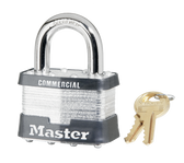 Master Lock No.25 - 2in (51mm) Wide Laminated Steel Rekeyable Pin Tumbler Padlock