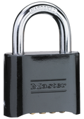 Master Lock No.1178 - 2in (51mm) Wide Set Your Own Combination Solid Body Padlock; Black