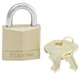 Master Lock No.130 - 1-3/16in (30mm) Wide Solid Brass Body Padlock