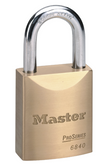 Master Lock No.6840 - 1-3/4in (44mm) Wide ProSeries Solid Brass Rekeyable Pin Tumbler Padlock