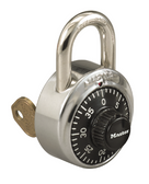Master Lock 1-7/8in (48mm) General Security Combination Padlock with Control Key