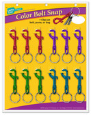 Colored Bolt Snaps - 12/card, Assorted