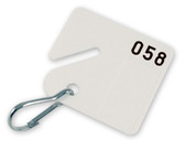 Numbered Square Slotted Cabinet Tags