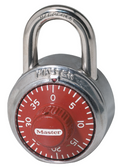 Master Lock 1-7/8in (48mm) Wide Combination Dial Padlock; Red Dial