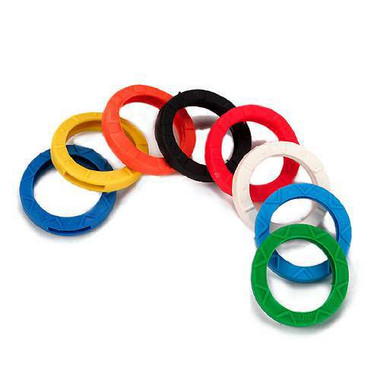 Key Identification Assortment, 200 rings in 8 colours - Std. Pak 1