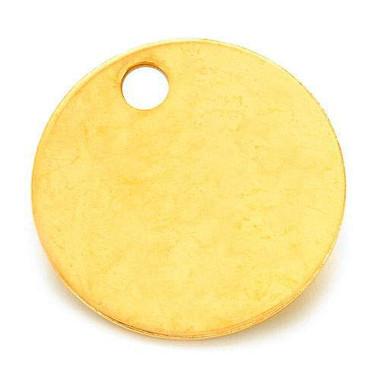 """Brass Key Tag 1 1/4"""" (32mm) - Std. Pak 100"""