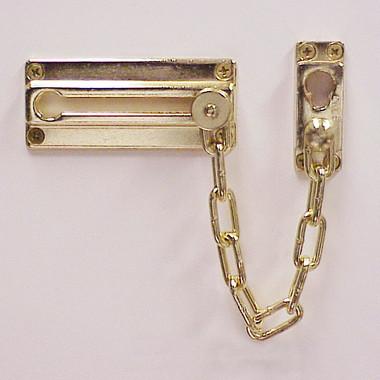 Chain Door Guard, Bright Brass