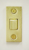 "Replacement Latch for Tubular Locks, Bright Brass - 2 3/8"" backset"