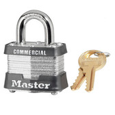 Master Lock No.3 - 1-3/4in (44mm) Wide Laminated Steel Pin Tumbler Padlock