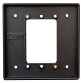 Camden CM-540B SURFACE BOX, Shallow Depth. Flame and Impact resistant black polymer
