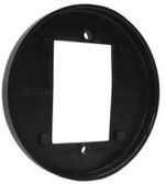 Camden CM570B SURFACE ROUND, Shallow Depth, Flame and Impact resistant black polymer