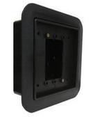 Camden CM-55CBL FLUSH BOX. Standard Depth, flame/Impact resistant black polymer