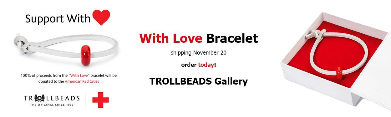 With Love Red Cross Trollbead Bracelet