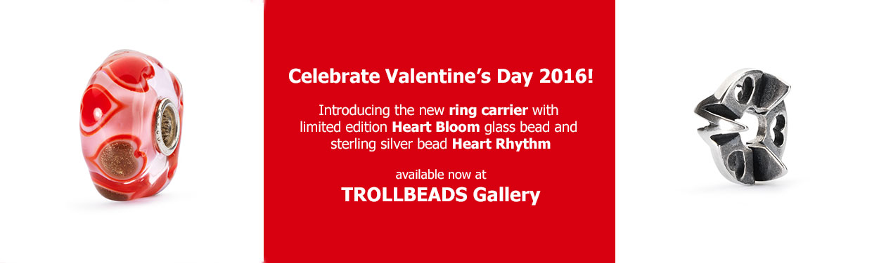Trollbeads Gallery Valentines 2016 Beads