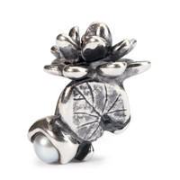 Water Lilies of July in sterling silver and pearl