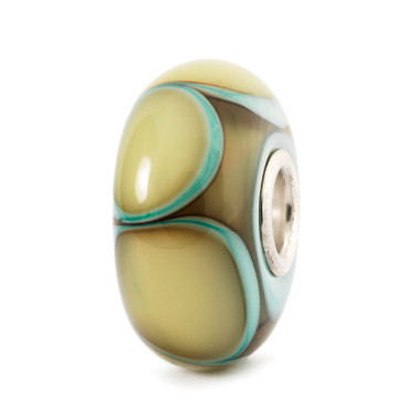 Aqua Edge Petals Glass Trollbeads