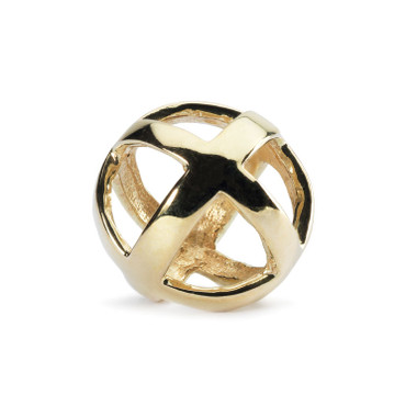 Stay Positive  Gold Trollbeads