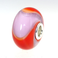 Red Lavender Armadillo Trollbeads