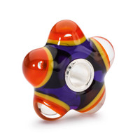 Flaming Meditation Bead glass Trollbeads