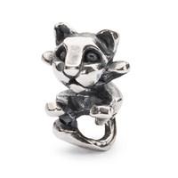 Trollbeads Sterling silver Curios Kitten Bead