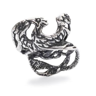 Phoenix Bead, Silver Trollbeads