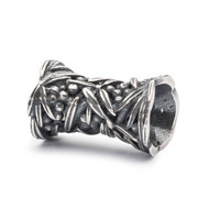 Sea Buckthorn Bead In Sterling Silver