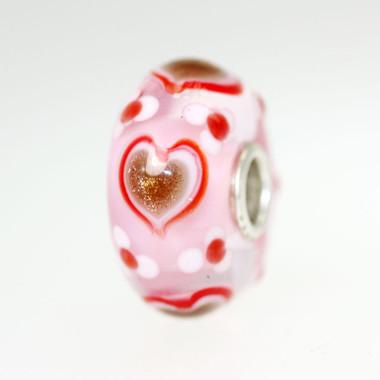 Glitter hearts On Pink