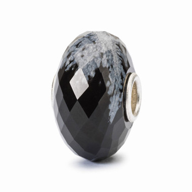 Black Friday Bead, Snowflake Obsidian Bead