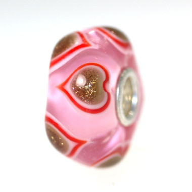 Pink bead Glitter Hearts