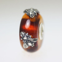 Wings of Amber With Two Bees