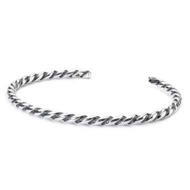 Twisted Silver Bangle