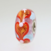 Orange Heart Bead