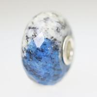 Feldspar Azurite Rock Bead With A Twist
