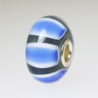 Blue Symmetry Bead